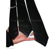 leather tie black