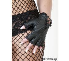 Damen- Lederhandschuhe fingerlos