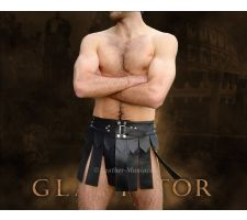 Gladiator-Rock Kilt Leder