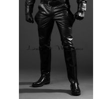 shiny leather jack boots