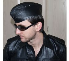 Garrison Leather Cap