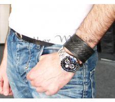 Armband aus Leder Flechtoptik