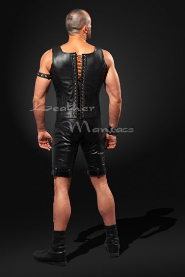 male leather corset