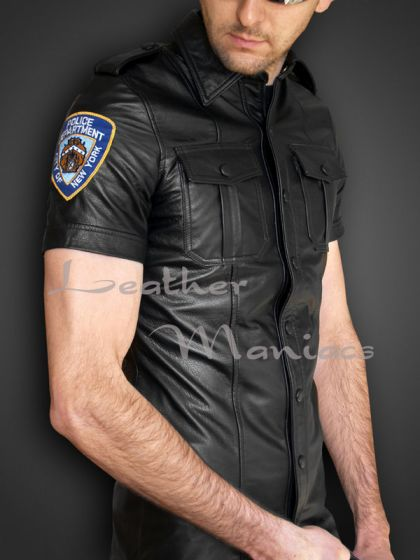 Lederuniformhemd NYPD