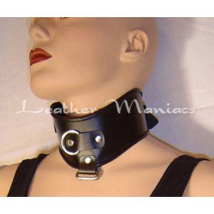 Leder-Halsband mit D-Ring
