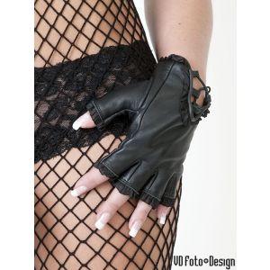 damen lederhandschuhe mit r schen leather maniacs. Black Bedroom Furniture Sets. Home Design Ideas