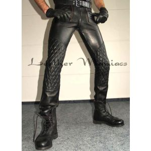 padded leather pants