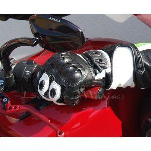 Motorradhandschuhe schwarz-weiß