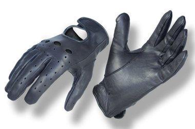Authandschuhe Leder schwarz