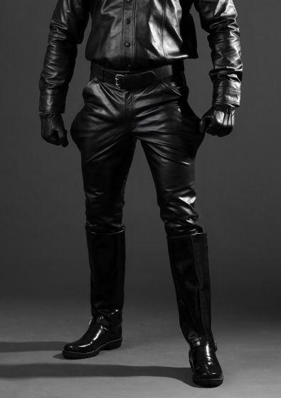 Leder-Breeches schwarz