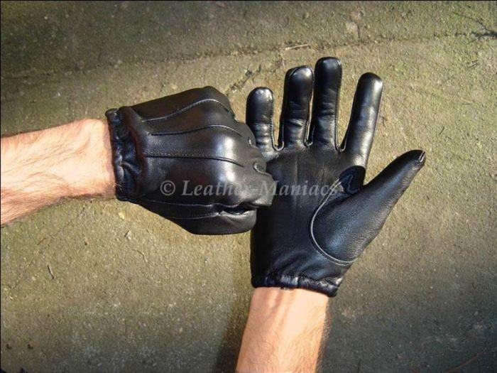 kurze Lederhandschuhe